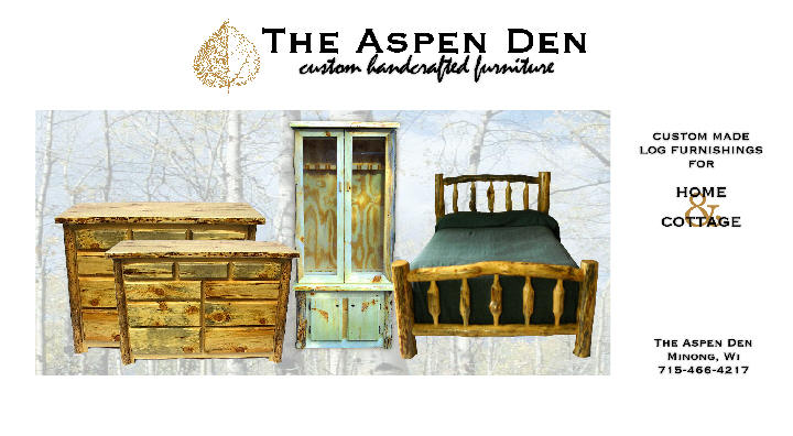 The Aspen Den - Custom Log Furniture